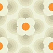 Orla Kiely wallpaper Petal grey orange