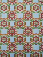 vintage floral wallpaper red green
