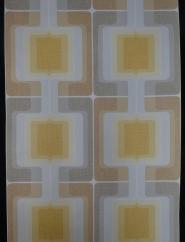 papier peint vintage géometrique gris jaune brun