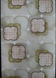 Papier peint vintage géometrique vert brun