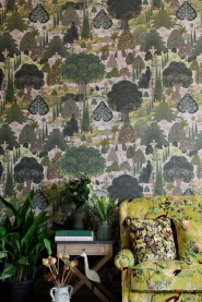 Premium wallpaper Jardin Sauvage