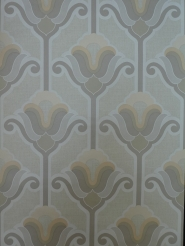vintage wallpaper grey flowers