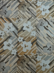 vintage wallpaper brown grey flowers