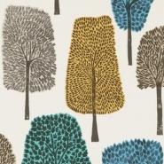 papier peint Scion Cedar gris-vert-bleu