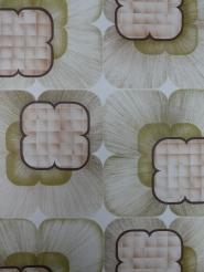 Vintage geometrisch behang groen bruin