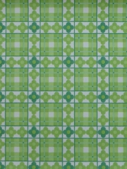 green flowers in a geometric pattern