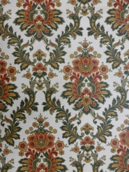 red green medallion wallpaper