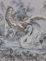 swan and rooster