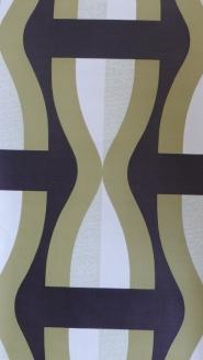 zwart groen geometrisch behangpapier