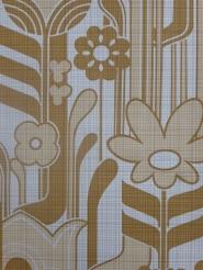 vintage bloemenbehang bruin