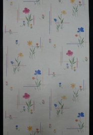 violet flowers vintage wallpaper