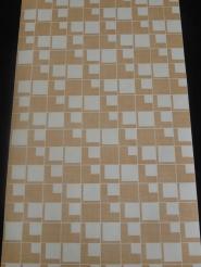 vintage behang geometrisch bruine blokjes