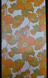 orange flowers vintage wallpaper