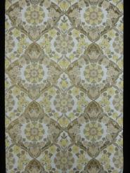 vintage medaillon behang geel grijs
