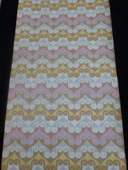 papier peint vintage geometrique brun rose