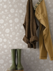 LAVMI wallpaper Plane tree taupe
