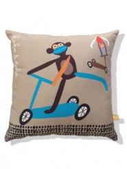 monkey on step kids pillow