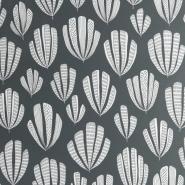 Miss Print wallpaper Hoja dark grey