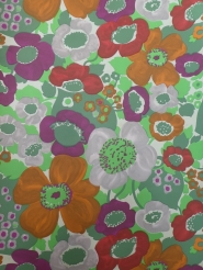 vintage floral wallpaper purple orange red