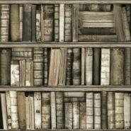 Antieke boekenkast behang