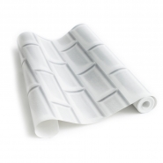 Witte metrotegels behang