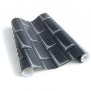 zwarte metrotegels behang