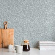 Papier peint imitation mosaique gris