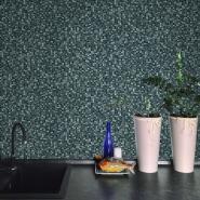 Mosaïc imitation wallpaper black