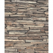 old stone imitation wallpaper brown