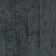Houten planken behang anthraciet-grijs