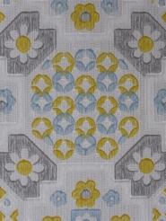 blauw geel grijze bloemen
