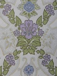 blue purple floral medallion wallpaper