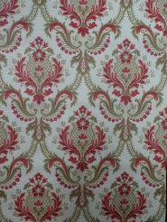 red brown damask vintage wallpaper