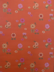 vintage wallpaper orange flowers