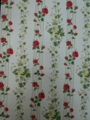 vintage floral wallpaper red roses
