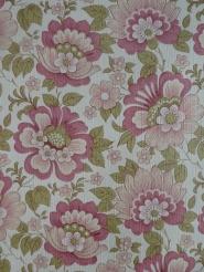 vintage bloemenbehang roze groen
