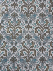 blue grey gold medallion wallpaper