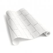 papier peint briques blanc