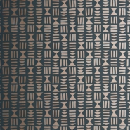 Miss Print wallpaper Hieroglyph black-copper