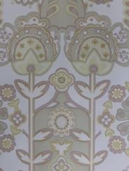 pastel vintage floral wallpaper