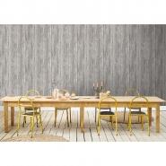 papier peint planches de bois cendrées