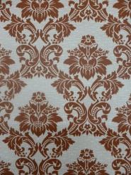 papier peint damassé vintage brun