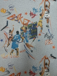 80s basketbal behang