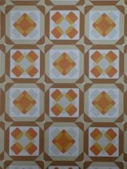 oranje bruin geometrisch patroon vintage behang