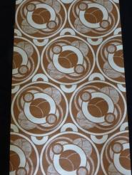 papier peint geometrique brun