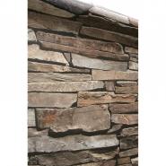 Rustieke stenen imitatie behang bruin