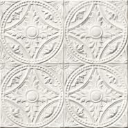 Victoriaanse platen imitatie behang wit