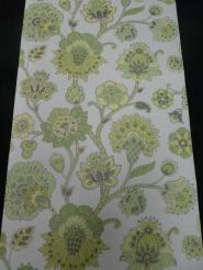 vintage bloemenbehang groen