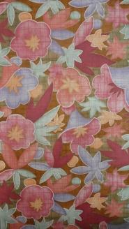 vintage bloemenbehang rood roze