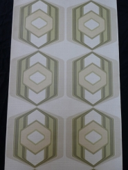 papier peint vintage figure géometrique vert